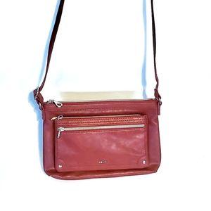 RELIC Dark Red crossbody bag.